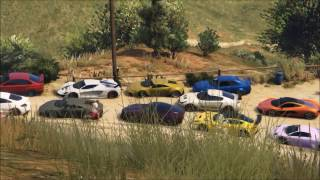 GTA 5 ONLINE | TheLowlyGentlemen Supers/Sports car meet