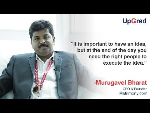 Entrepreneur speak with Murugavel Janakiraman, Bharat