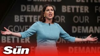 Jo Swinson adresses party conference and urges them to fight for the 'heart and soul' of Britain