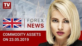 InstaForex tv news: 23.05.2019: Oil plunges amid rising US inventories, dragging down ruble (Brent, RUB, USD)