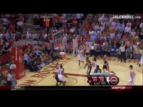 Rockets vs Blazers Game 6 2009 NBA Playoffs HD Highlights 4/30/09 - Jalen Rose on ESPN