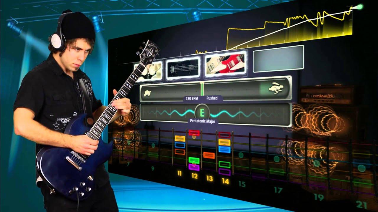 David MeShow Playing RockSmith 2014 YouTube