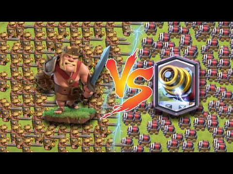 Barbarian King Level 1 Vs Sparky   Who Will Win ?