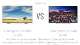 LG Electronics 55UB850V vs Samsung UE55HU7590 Fernseher-Vergleich [Deutsch]