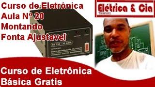 Montando Fonte Variável 12v lm317 Curso de Eletrônica #20