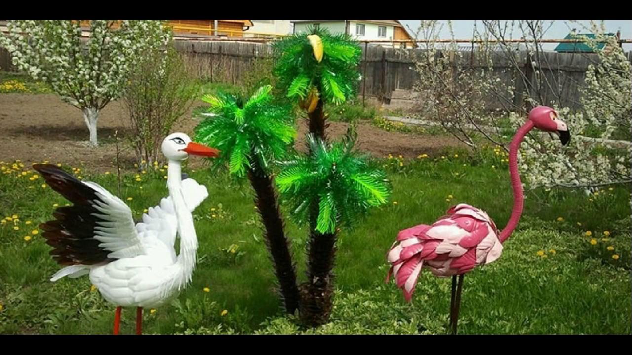 Красивые поделки для сада и огорода.