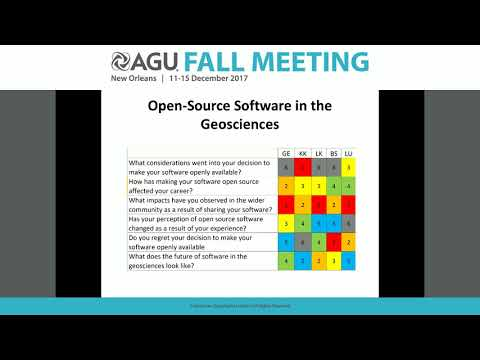 2017 Fall Meeting - NS44A: Open-Source Software in the Geosciences