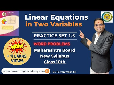 Linear Equations in Two Variables Class 10th Maharashtra Board New Syllabus Part 5