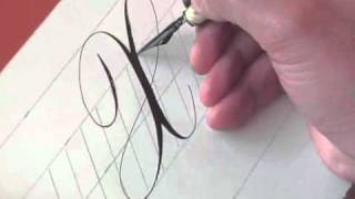 Hamid Ezra Ebrahimi: How To Write Copperplate - Letter Xx