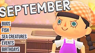 Animal Crossing New Horizons Guide to SEPTEMBER Bugs Fish Events and More Northern Hemisphere