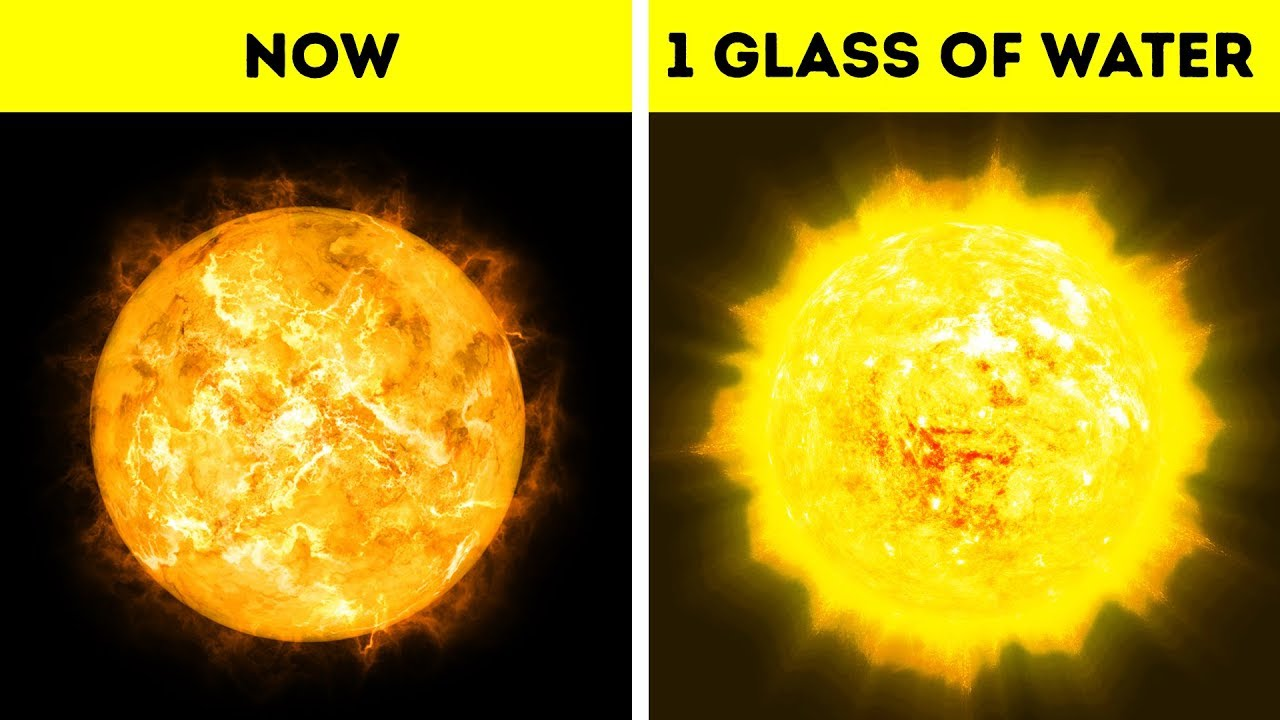 what if you poured a glass of water on the sun youtube
