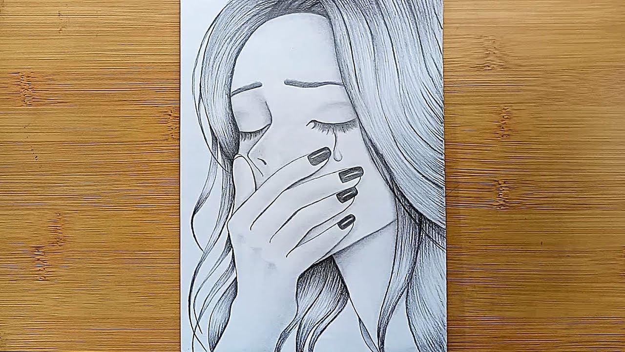 A Sad Girl Drawing Tutorial Pencil Sketch Drawing Youtube