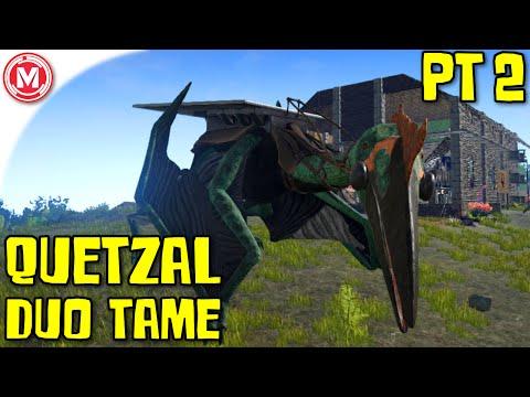 ARK: Survival Evolved - ARK: Survival Evolved - Quetzal Duo Tame Part 2 (Gameplay)
