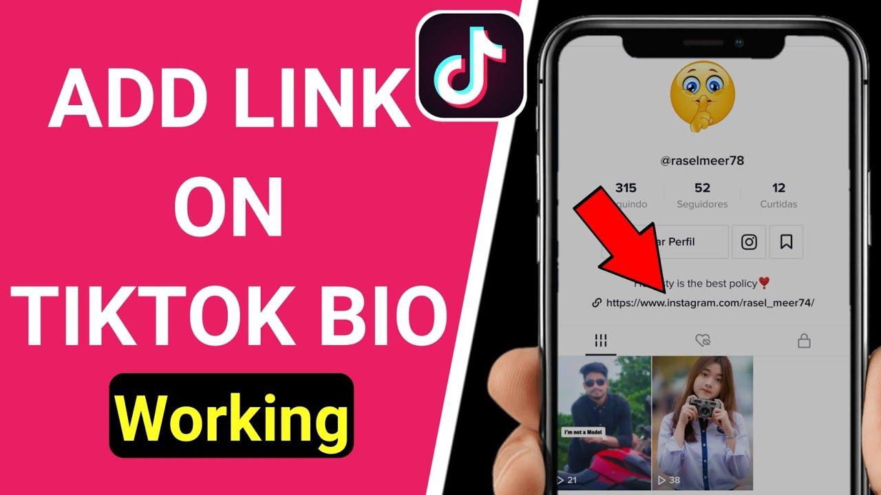 How To Put A Link In Your Tiktok Bio 2021 How To Add Link In Tiktok Bio Youtube