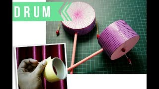 How to Make Pellet Drum   Chinese Rattle Drum   Toy Drum   DIY