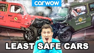 The LEAST SAFE new cars to CRASH in!