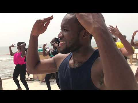 Kukuwa® Fitness class with Coach Cass in Accra Ghana