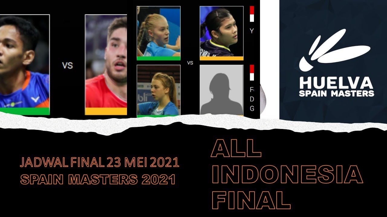 Jadwal Dan Head to Head Final SPAIN MASTERS 23 Mei 2021-All Indonesia Final