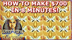 ★ RISE OF RA ★ HOW TO MAKE $700 IN 8 MINUTES!? ★ MAX BET ★ FREE GAMES ★