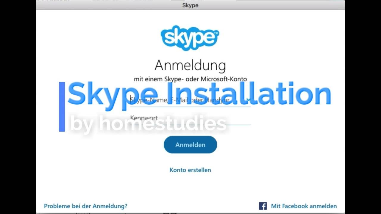 skype installation skype konto erstellen youtube. Black Bedroom Furniture Sets. Home Design Ideas