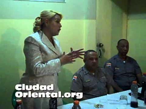 Raquel Cruz coordina acción anti ruidos en Los Alcarrizos
