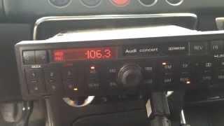 Разблокировка магнитолы Audi Concert