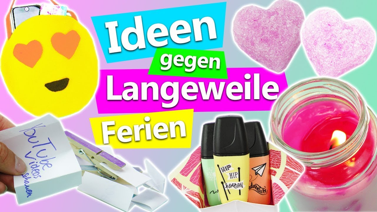5 ideen gegen langeweile in den ferien tolle diy ideen deko kosmetik kerzen emoji tasche. Black Bedroom Furniture Sets. Home Design Ideas