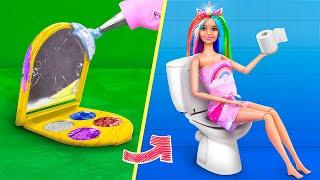 12 Miniature Barbie DIYs for Dollhouse