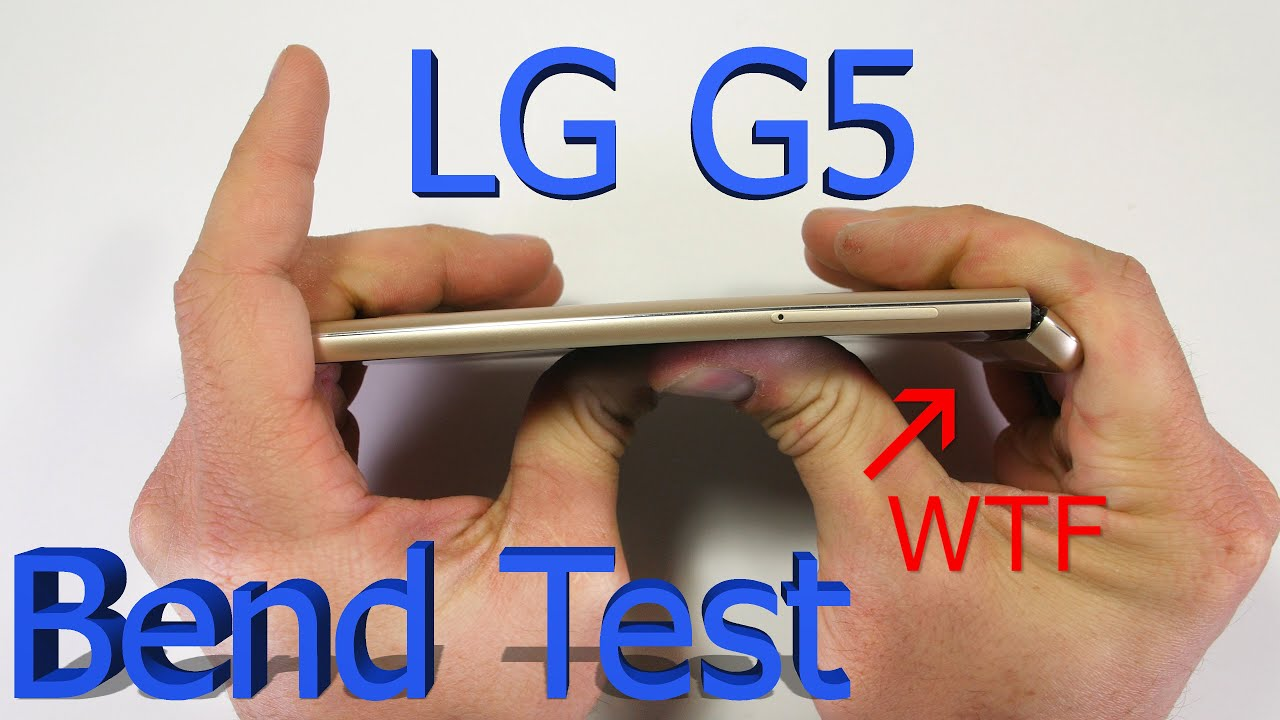 LG G5 Torture Test: Scratched, Burned And Bent, With A Plastic