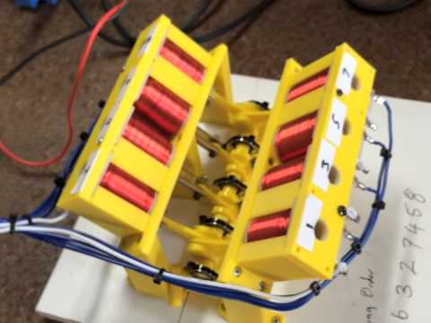 John S 3d Printed V8 Engine Powered By Electric Solenoids
