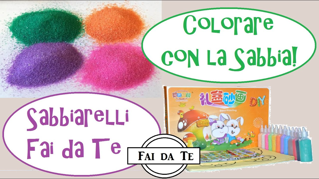 Famoso Sabbiarelli Fai da Te - Come Colorare con la Sabbia! - YouTube WC11