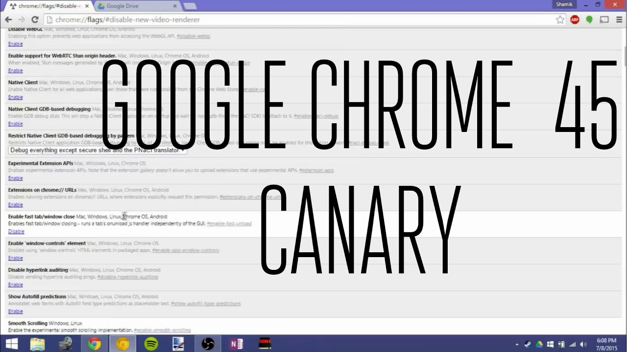 Google Chrome 45 Canary New Features!