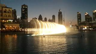 Dubai fountain Sama music