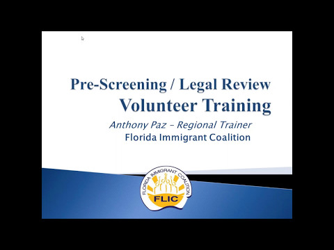 Pre Screening / Legal Review Station