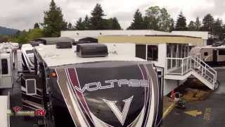 Stock #2714 2014 40-foot Voltage 5th Wheel Toy Hauler(james Manning)