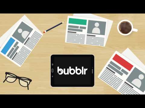bubblr the world's best breaking news app