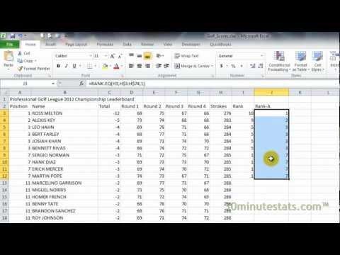 Microsoft Excel 2010 Tutorial Ebook