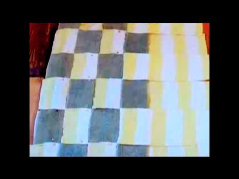How To Make a Bathmat out of old Towels, Threadbanger