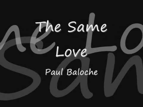 Paul Baloche The Same Love Lyrics