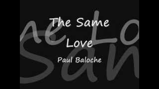 Paul Baloche - The Same Love Lyrics