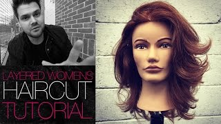 How To Cut A Layered Womens Haircut Tutorial | MATT BECK VLOG #29 4-8-16