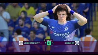 FIFA 19 | LEICESTER CITY VS CHELSEA | REALISTIC HIGHLIGHTS | PREMIER LEAGUE