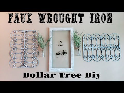 DIY Dollar Tree Faux Wrought Iron Wall Decor | Dollar Store Rustic Home Decor