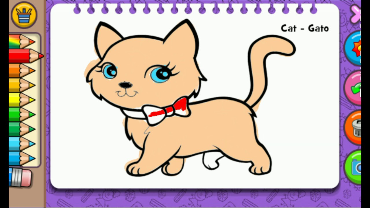 BELAJAR MEWARNAI KUCING CAT