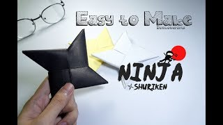 How To Make Easy Paper Weapon Ninja Shuriken naruto - Origami Crafts