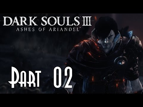 Let's Blindly Play Dark Souls III: Ashes of Ariandel! - Part 02 of 08 (Resident Evil Leon Cosplay)