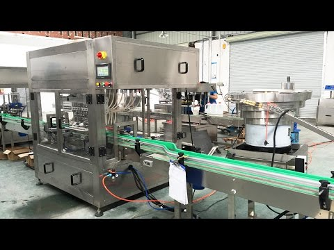 coconut oil jars washing drying filling capping labeling line automatic línea llenado de aceite coco
