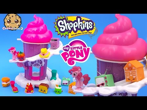 Shopkins Season 3 12 Pack + 2 Blind Bags Unboxing Slide Down My Little Pony Cupcake - Cookieswirlc