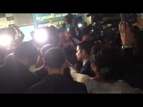 Ayman Odeh arrives Joint List HQ Nazareth
