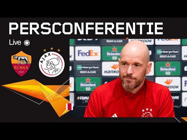 LIVE 18:45 | Persconferentie AS Roma - Ajax | UEFA Europa League